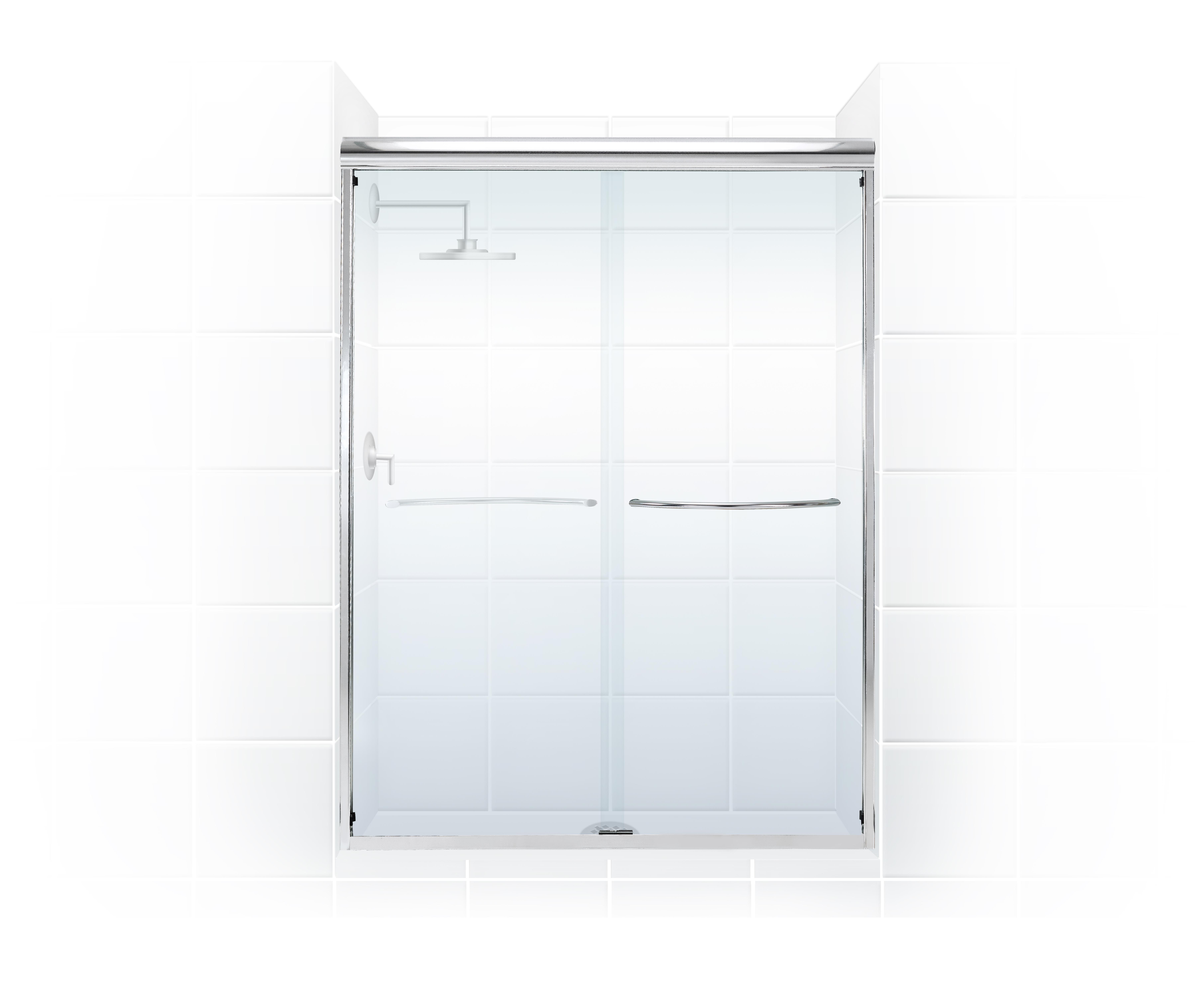 coastal industries paragon 3/8 frameless bypass shower door